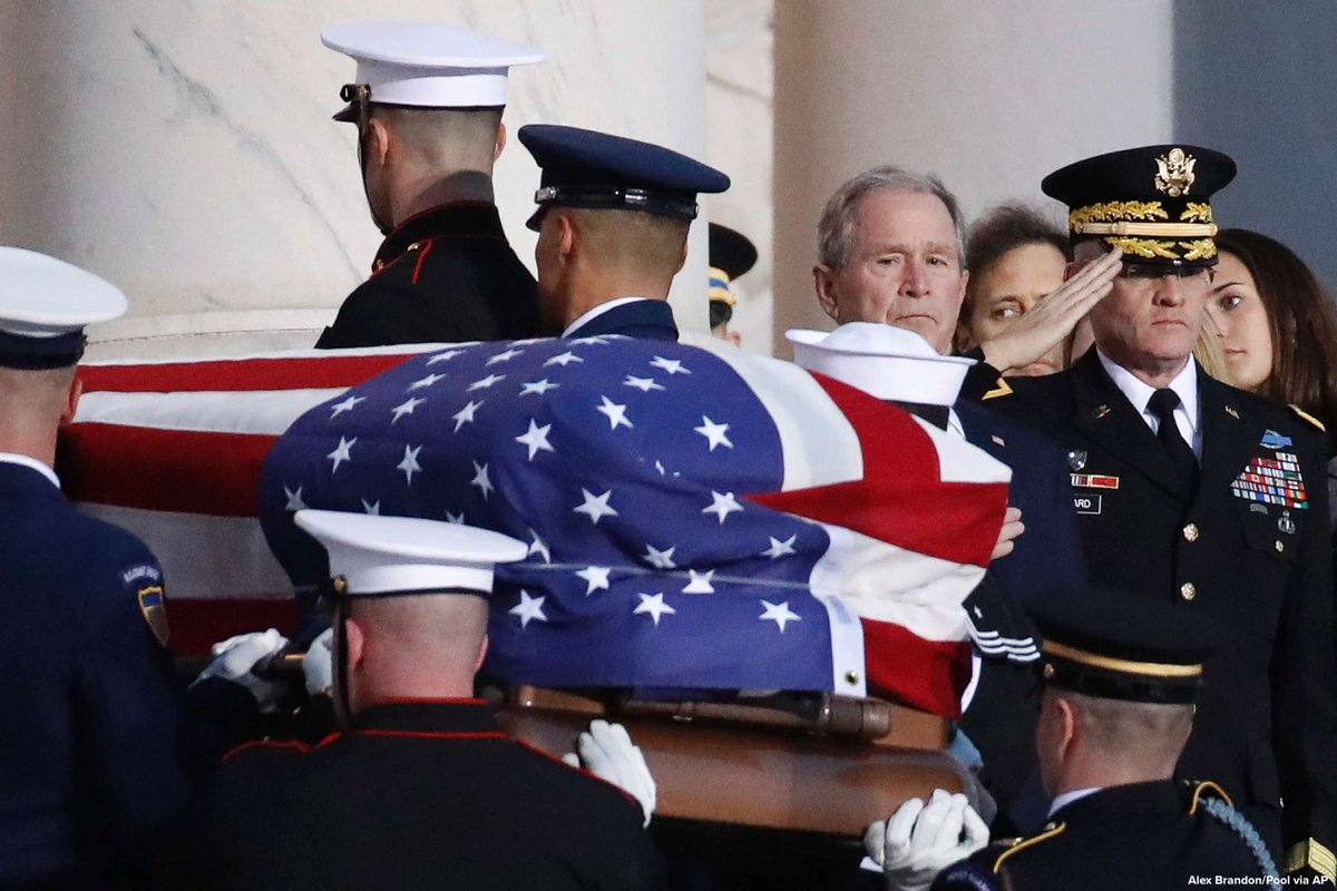 Hundreds of dignitaries, heads of state and family members to gather at Washington National Cathedral for state funeral of former Pres. George H.W. Bush. abcn.ws/2RvGlY9