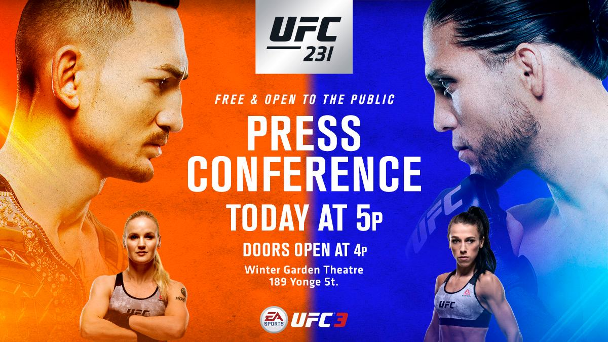 Todays #UFC231 press conference is FREE & open to the public!