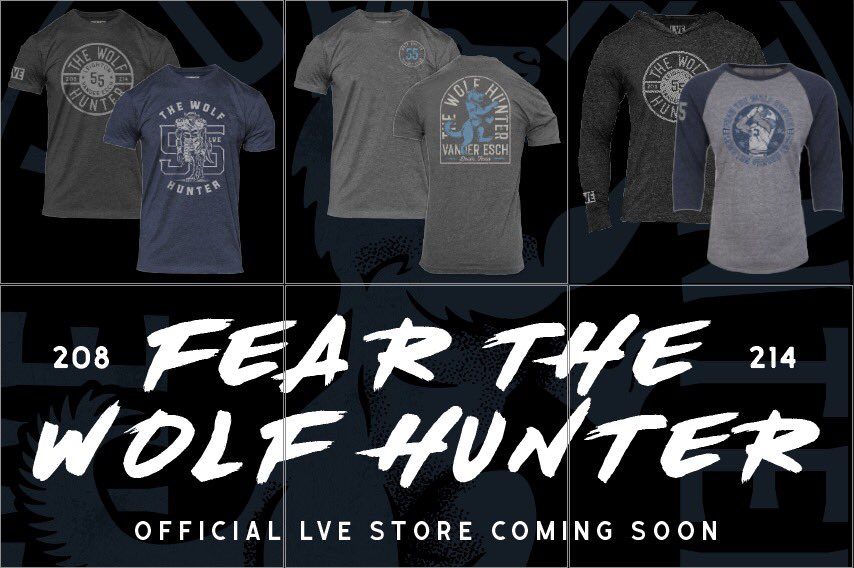 25b3aa2f947 Excited to announce my LVE online store, the ONLY place to buy my Wolf  Hunter apparel. December 13th you can get all of your Playoff Run and  Holiday ...