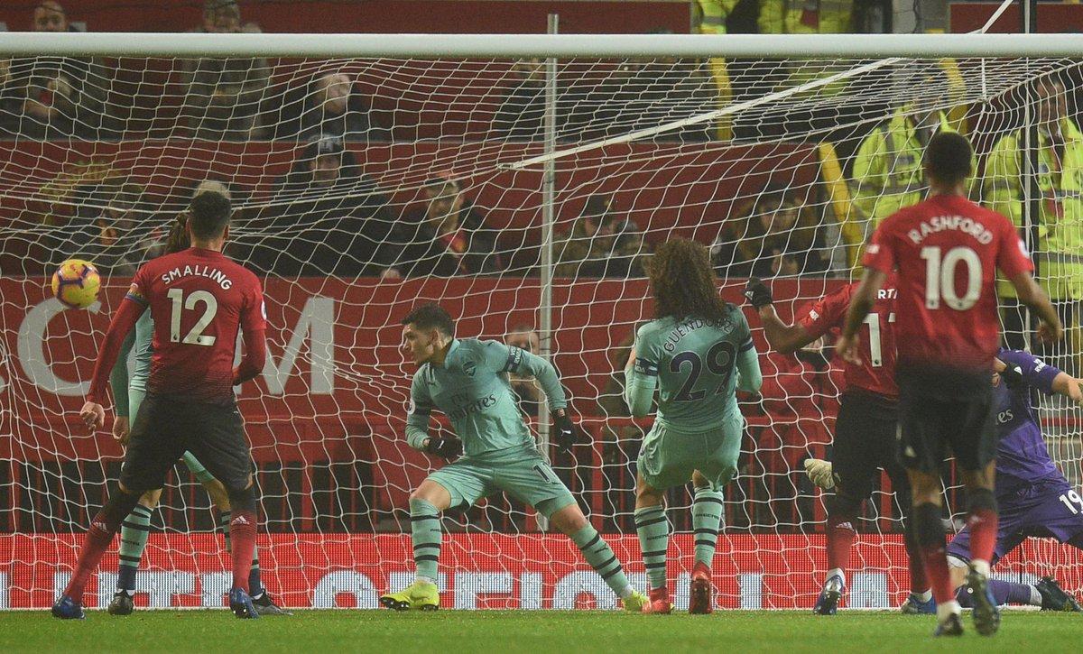 Гол Антоні Марсьяля у ворота Арсенала в матчі АПЛ