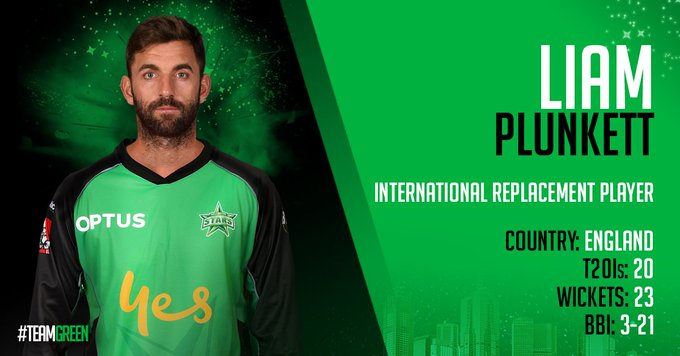 NEWS | Liam Plunkett will join #TeamGreen as an international replacement player with Matt Parkinson being ruled out of the competition. We would like to welcome Liam to the team and wish Matt a speedy recovery! More: Photo
