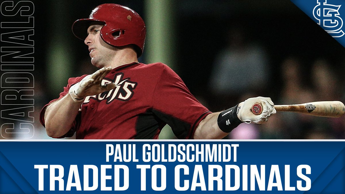 The Cardinals have acquired 6-time NL All-Star 1B Paul Goldschmidt from the Diamondbacks.