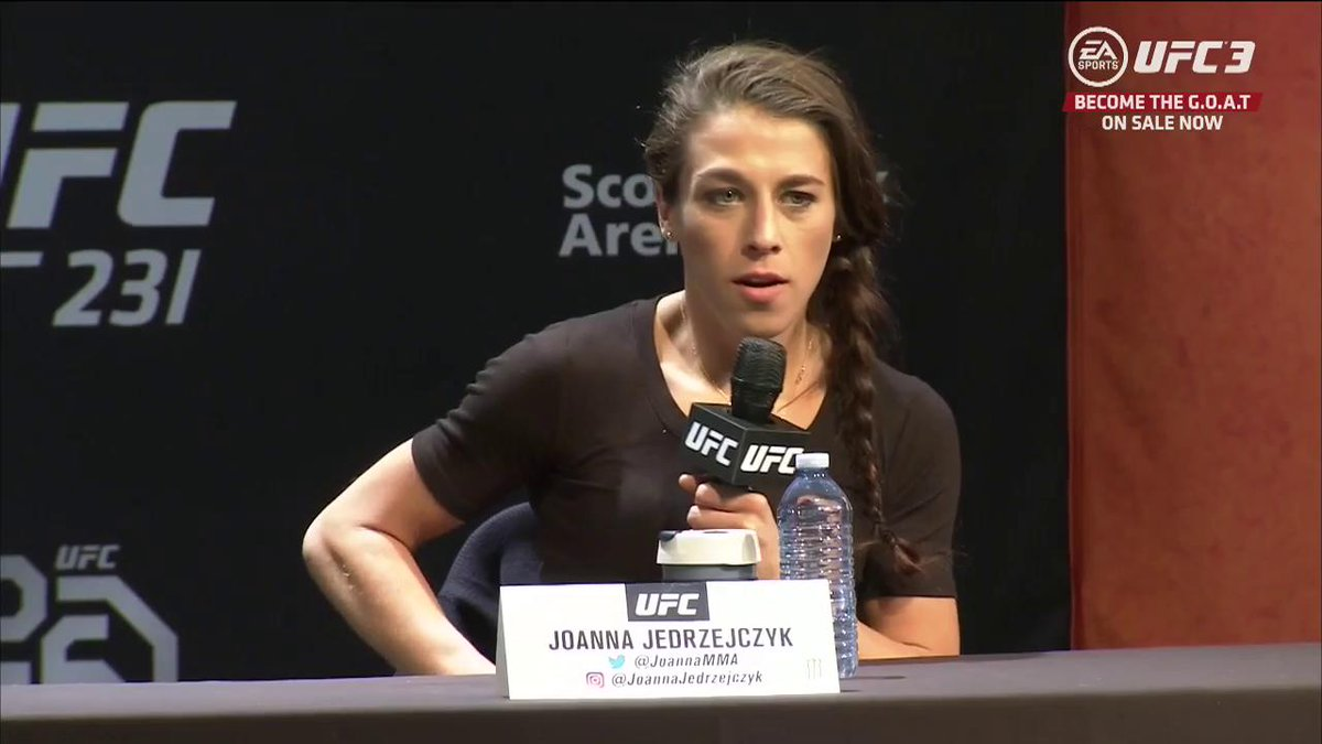 With a win, is @JoannaMMA the 🐐 of womens MMA? #UFC231
