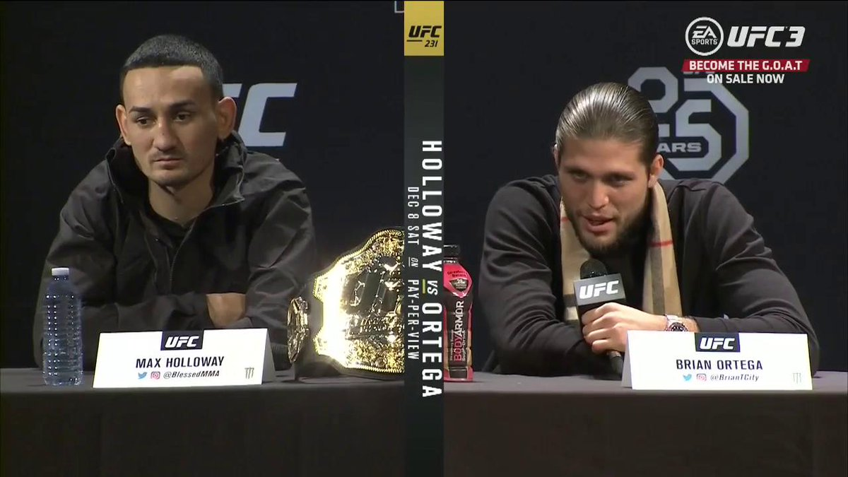 This is the beginning. The rivalry has just begun. #UFC231