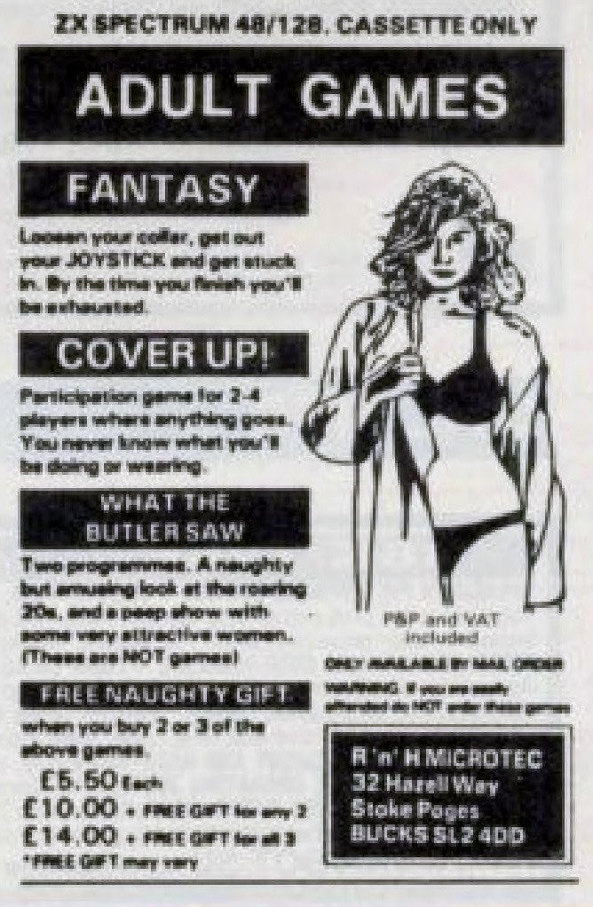 ... high up in the list. I guess the Atari 2600 had several sexy games, and  that's similarly not graphically inclined. ...