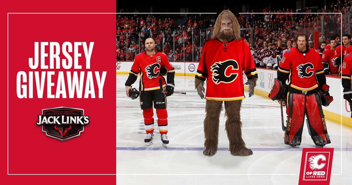 #CofRed , give this a retweet and you'll be automatically entered to win a Flames jersey courtesy of our friends at !   |  #FeedYourWildSide #Flames