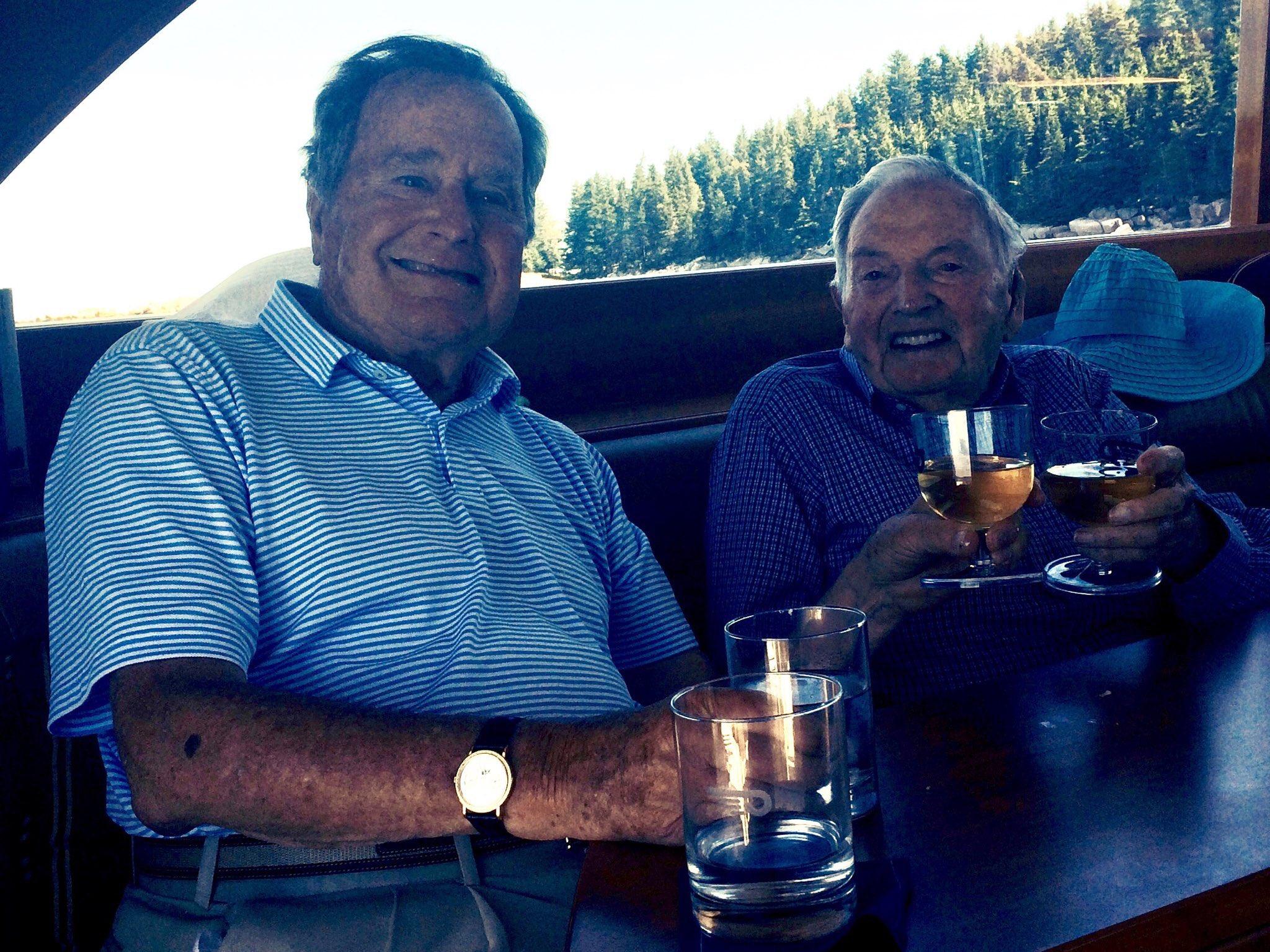 George Bush and David Rockefeller