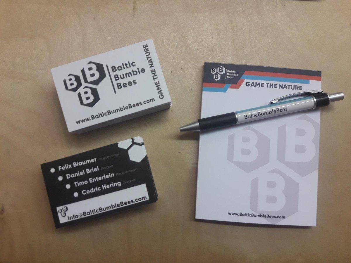 Balticbumblebees On Twitter Unsere Ersten Visitenkarten