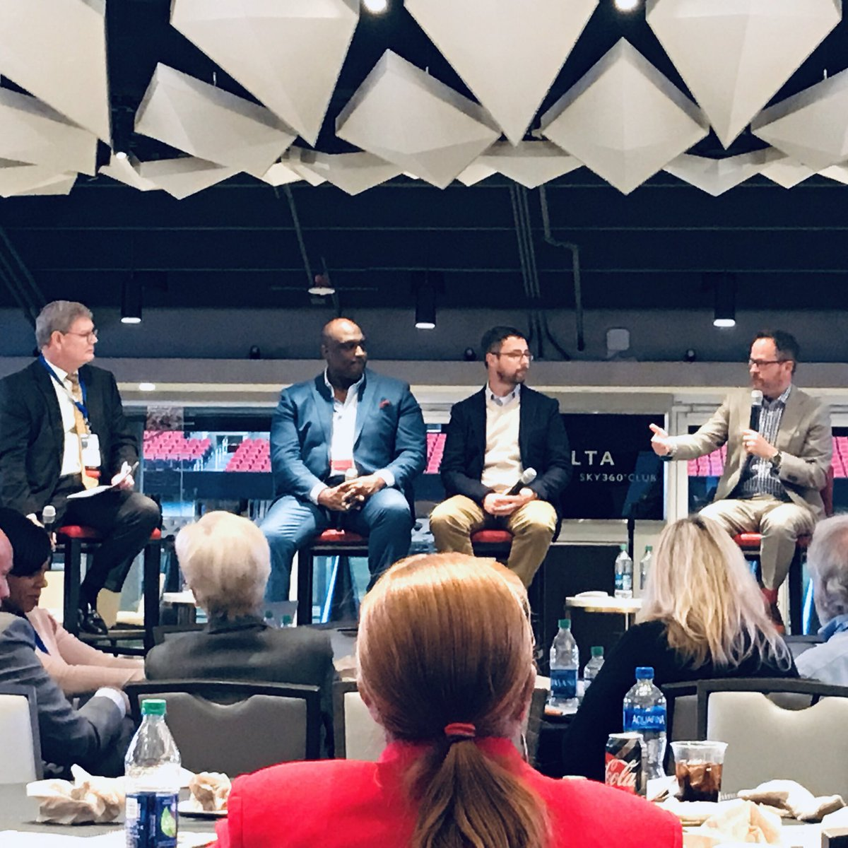 Thanks to @GAOpportunity for having me & @rodney_bullard & @GregBeadles to discuss future of economic mobility.  Very proud to have @ChickfilA & @MBStadium as part of @GAChamber. Truly great corporate leadership. #gapol