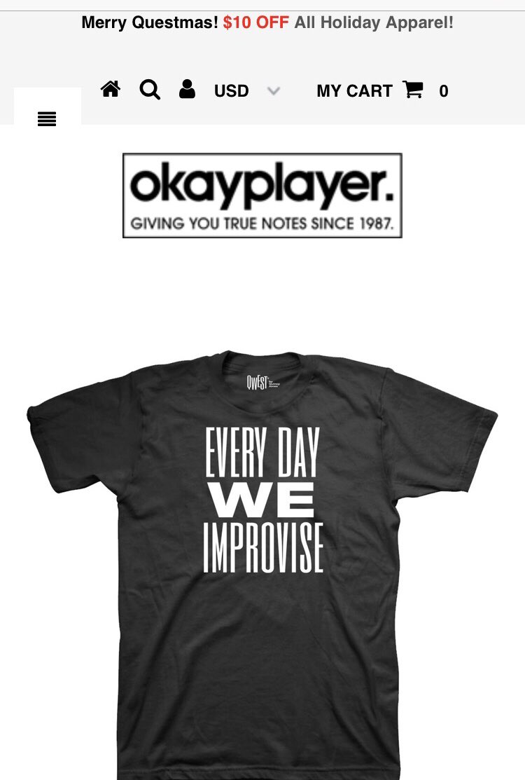 .@Qwest_TV collaborated with @okayplayer on some new merch! First t-shirt design is now available 🙌 bit.ly/2PnUPrg