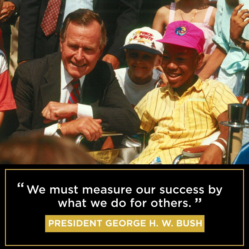 Today @MENTORNational remembers President George H. W. Bush - he dedicated his life to public service&collective problem-solving. In his words,The problems we face as a nation should never be seen as someone elses to solve. We must measure our success by what we do for others.
