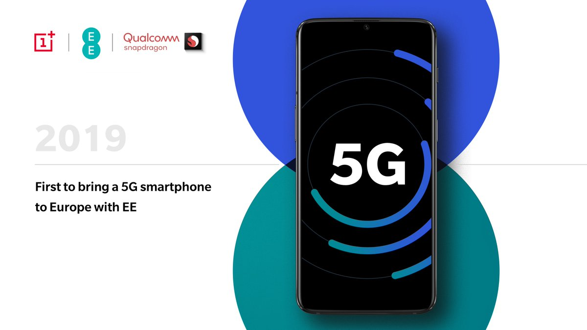 We are taking the next step in our journey to the top of the global flagship market! OnePlus and @EE will join forces to deliver a #5G ready flagship in early 2019. qualcomm.com/techsummit #SnapdragonSummit