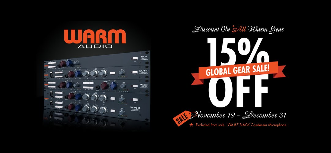 Holiday Sale! 15% Off All Warm Audio Gear!!! Global Gear Sale through December 31! Check your local participating authorized Warm Audio dealers near you!   Dealers https://warmaudio.com/worldwide-dealers/…  #warmaudio #teamwarm #thehilsonstudio #liveatthehilson #wa47 #wa14 #wa73 #wa2a