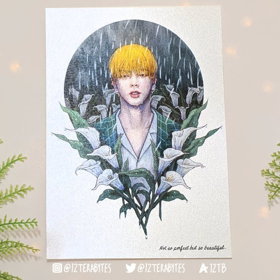 ♫♪ Not so perfect but so beautiful. ♫♪ In celebration of Jin&#39;s birthday we now have a limited shimmer Jin Postcard Art Print in our store!    https://www. etsy.com/listing/650701 200/limited-shimmer-bts-postcard-art-print?ref=shop_home_active_1 &nbsp; …   #HappyBirthdayJin #epiphany #kpopunofficialmerch #seokjin #btsfanart #BTS  #jintro <br>http://pic.twitter.com/3gtBQcQ5En