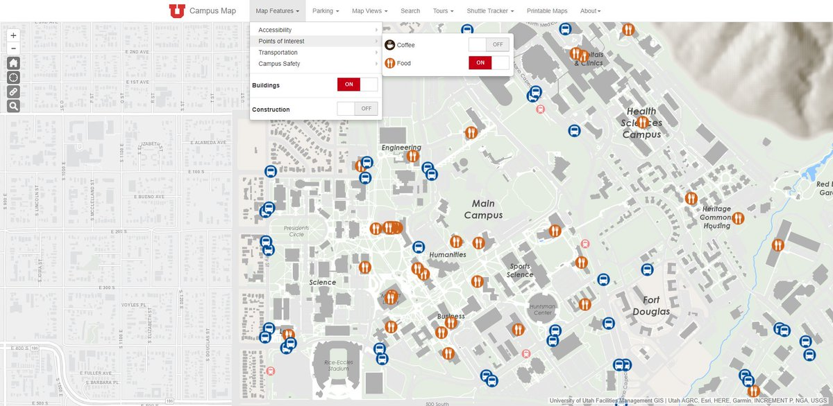 Arcgis Apps On Twitter The University Of Utah Uutah Has A Great