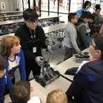 Image for the Tweet beginning: Lamar Robotics Club demonstrates how