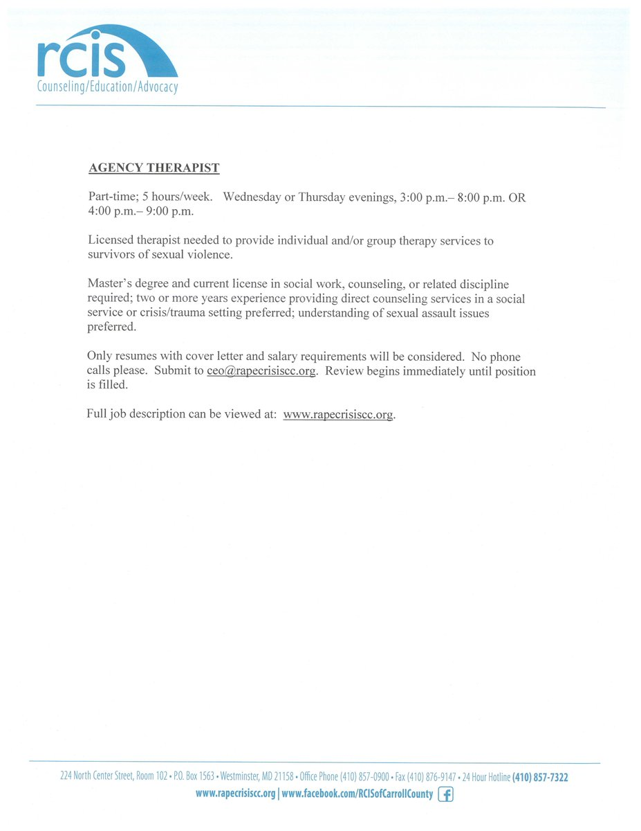 rcis cover letter