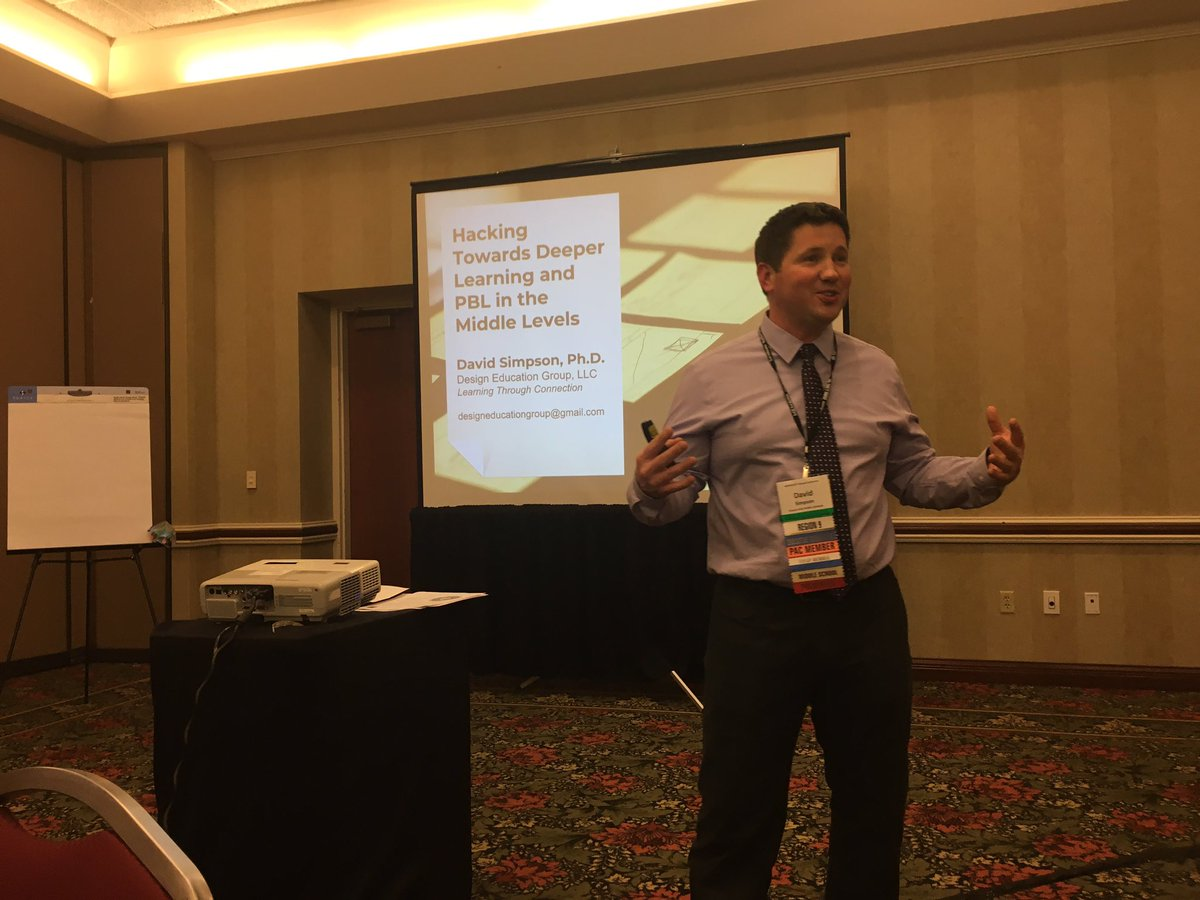 @davidsimpson512 Is Hacking Towards Deeper Learning in the Middle Level at #MEMSPA18