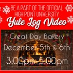Get involved with the Yule Log Video today and tomorrow in the Great Day Bakery!