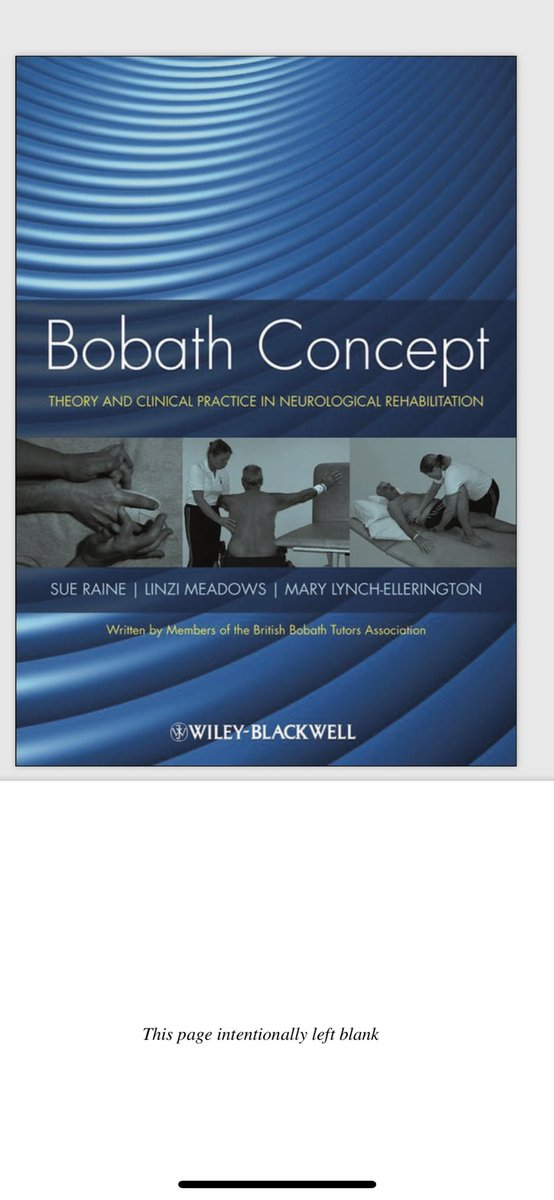 تواس العلاج الطبيعي On Twitter Bobath Concept