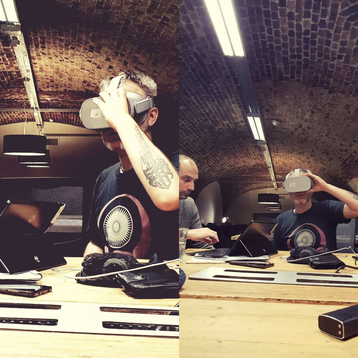 Shhh... Late night VR dev session in progress. Watch this space... #vr #experientialmarketing #technology #oculusgo #AR