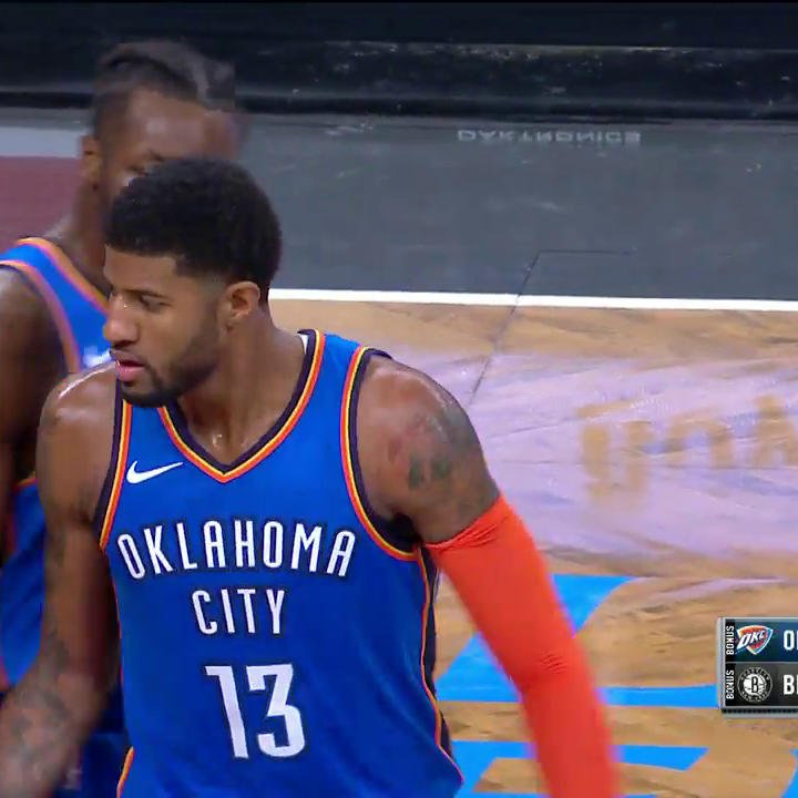 PG IS ON ��!  He has 47 & 23 PTS in the 4th to give OKC the lead with 3 seconds left! ��  #ThunderUp https://t.co/kbENfFBJZc
