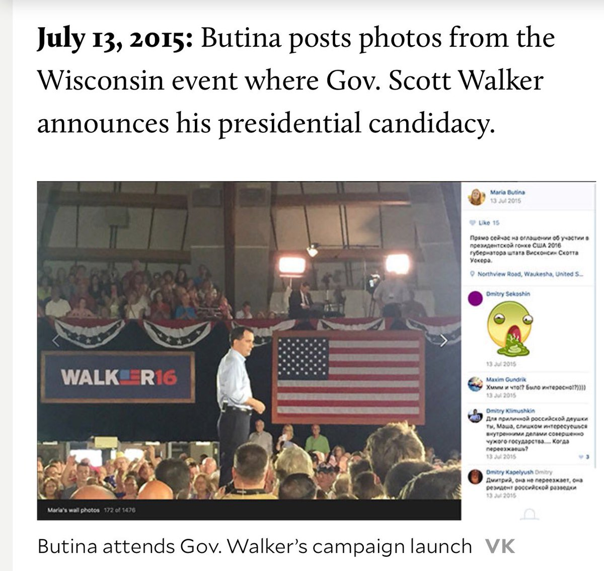 🔥@GovWalker and Wisconsin Republicans are controlled by Putin🔥Butina and Torshin funneled RU money to Scott Walker‼️