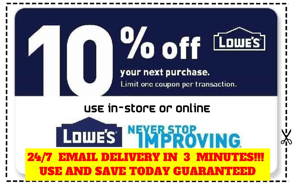 Carlos N Woodard Hot Deal Usa On Twitter New On Ebay Us Coupons Three 3x Lowes 10 Off Coupons Discount Instore And Online Fastest Delivery Https T Co Gpxtvyygch Https T Co 0wyj0sckdd