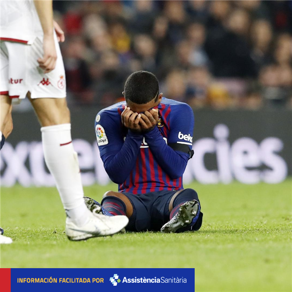BREAKING NEWS — Malcom has a sprained right ankle. He will undergo further tests tomorrow to determine the exact extent of the injury.  🔴🔵 #ForçaBarça