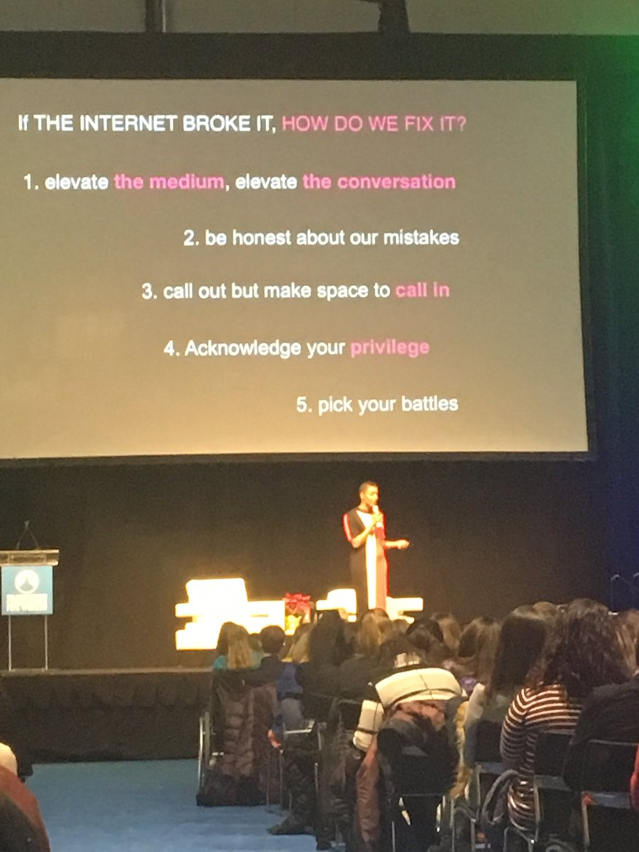 Sage advice from ⁦@chescaleigh⁩ on social media to #MassWomen Opening Night <br>http://pic.twitter.com/Yxmwgn5vFo