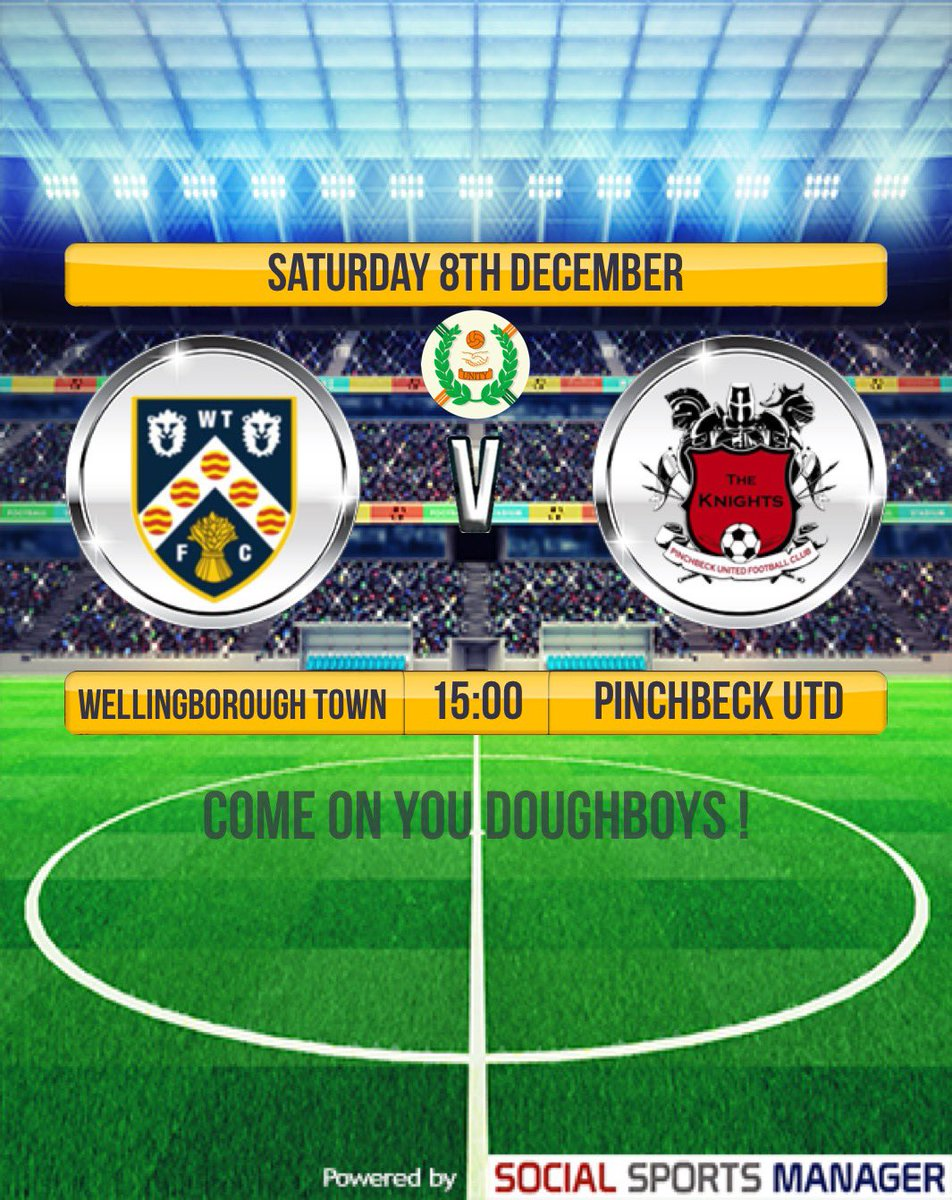 ⚽️ COME & SUPPORT THE LADS HOPING TO CONTINUE THEIR UNBEATEN LEAGUE RUN  ⚽️  WTFC v Pinchbeck  🏆  UCL Premier Division 📆  Sat Dec 8th ⌚  KO - 3pm  💷  £6 Adults / £3  🏟  Dog & Duck, NN8 2DP 🚗  Parking ☕ Snacks / Bar @JonDunhamNT @UCLFanZone @utdcos @wellyorg