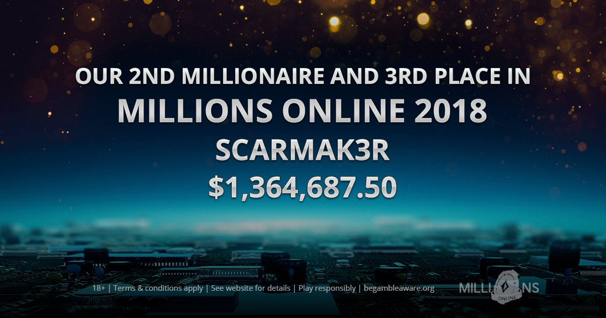 Congratulations to Scarmak3r for turning $5 into $1,364,687.50 (is that the best ROI ever?). What an incredible story and this is truly what we dream of for all of our players.