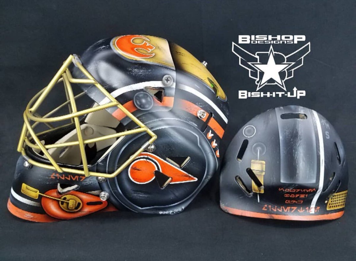 I hate the Anaheim Ducks with every fiber in my body, but I have nothing but respect for @RyanMiller3039's @StarWars Night Poe Dameron mask by @BishopDesigns https://t.co/0Y6bJN7M1w | theScore.com