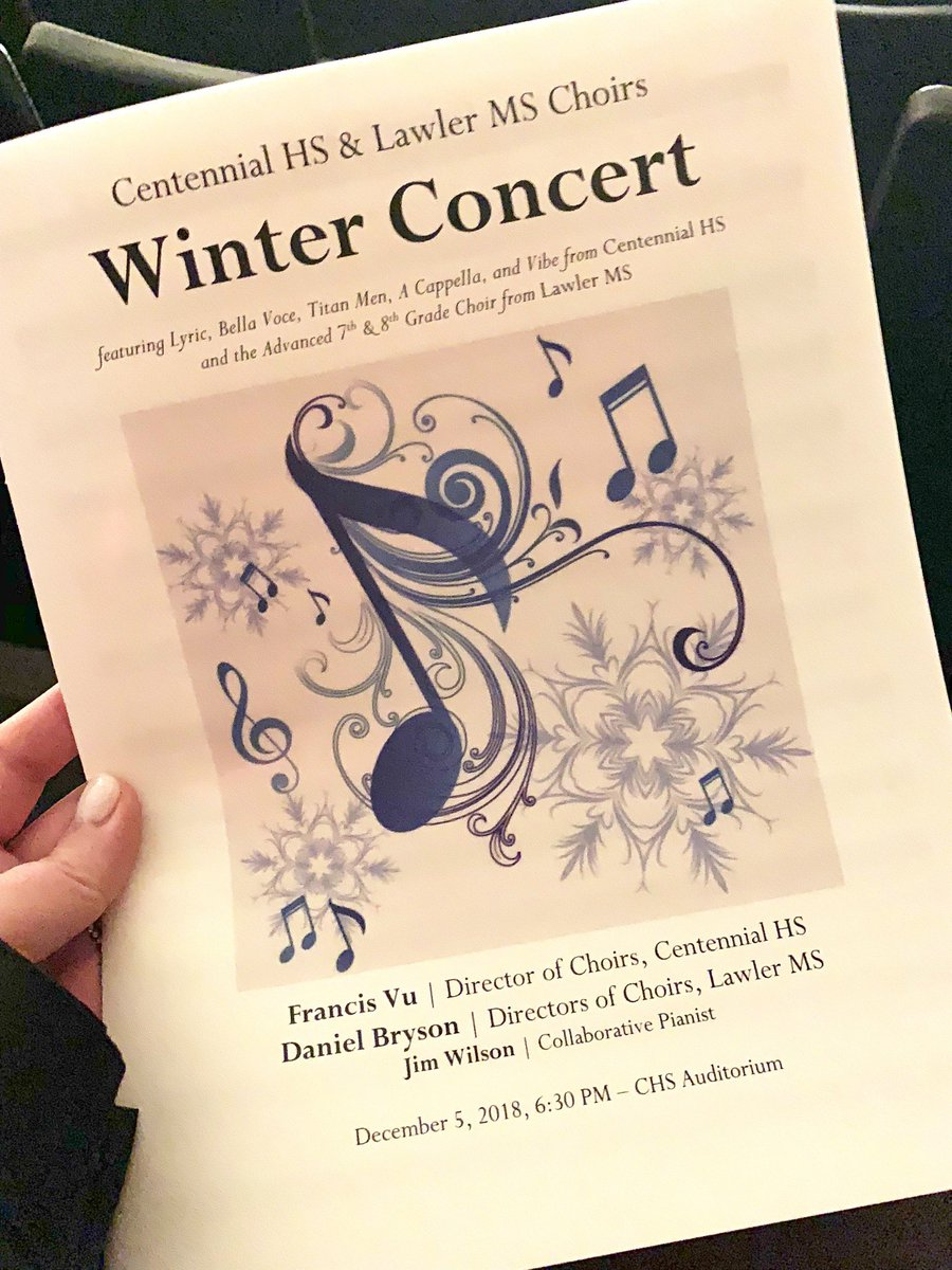 Incredible performances by @LawlerMS_FISD and @Cen10titans choirs at  tonight's Winter Concert.