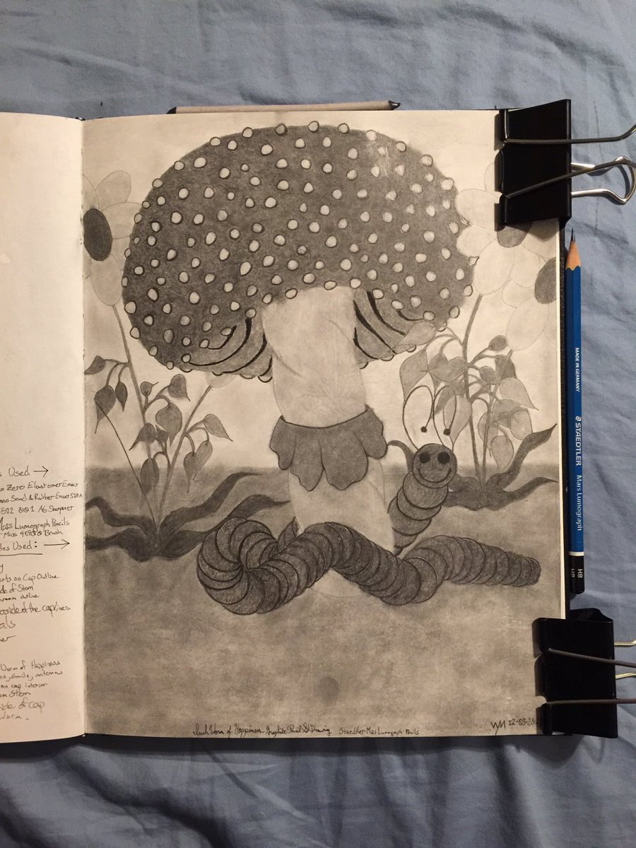 #wynart #inchwormofhappiness #fungi #mushroom #art #traditionalart #traditionaldrawing #drawing #pencils #graphite #pencildrawing #staedtler #marslumograph #cansonsketchbookpic.twitter.com/pWUHx3xTcp