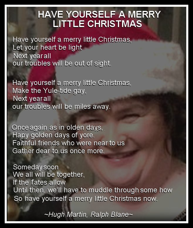 susan boyle have yourself a merry little christmas