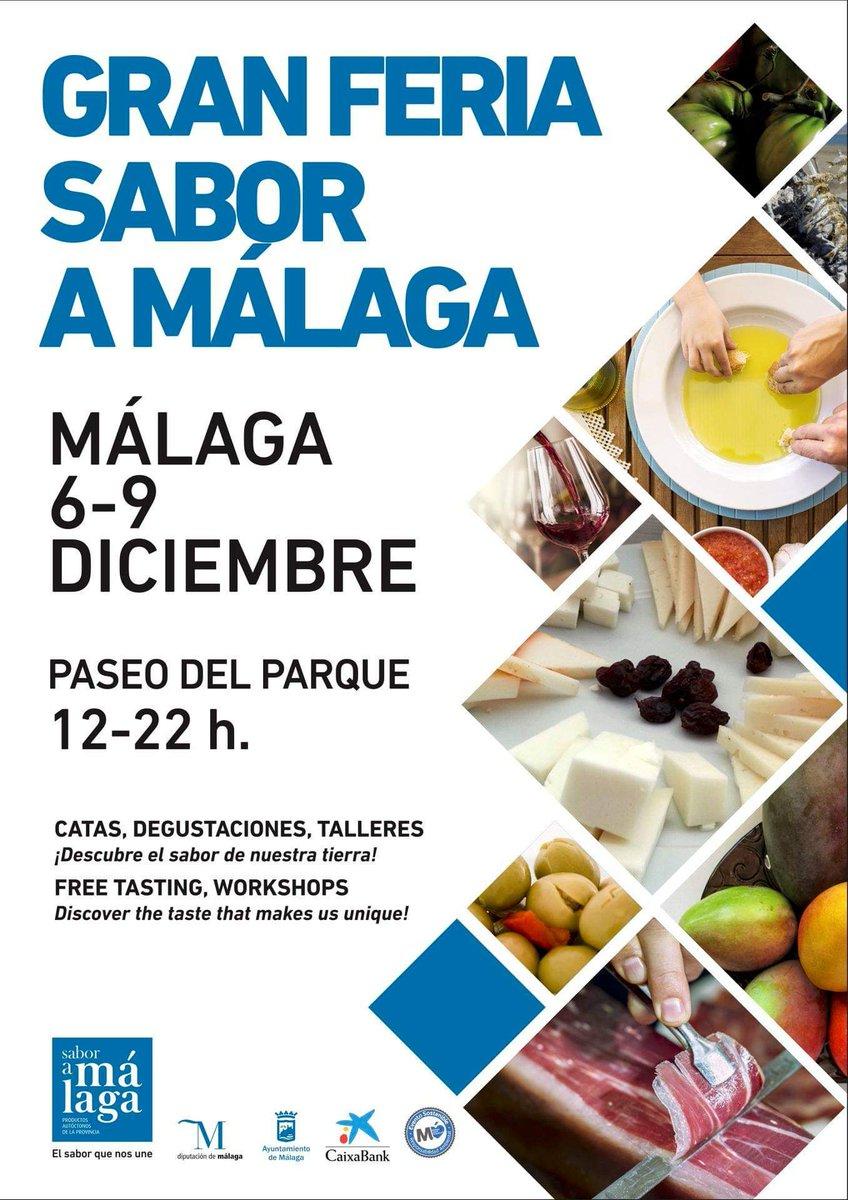 Hoy, en el Paseo del Parque, arranca  la Gran Feria  @SaboraMalaga, que durará hasta el próximo domingo 9. No se pierdan todas las actividades que nos ofrece  #elsaborquenosune.