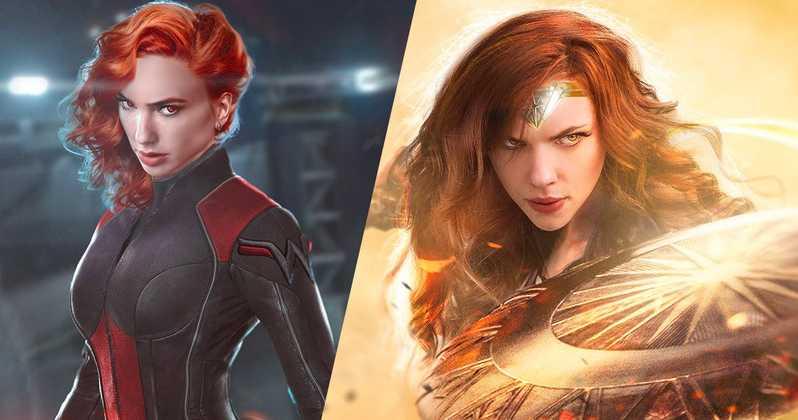 My #ElseWorld  Gal Gadot Is Black Widow, Scarlett Johansson Is Wonder Woman, <br>http://pic.twitter.com/j7HJdjnC3J