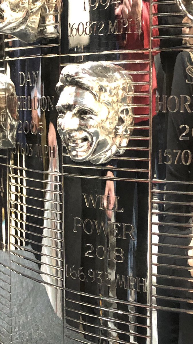 Really cool to see my face on the @BorgTrophy tonight for the first time. Amazing job by Will Behrends.