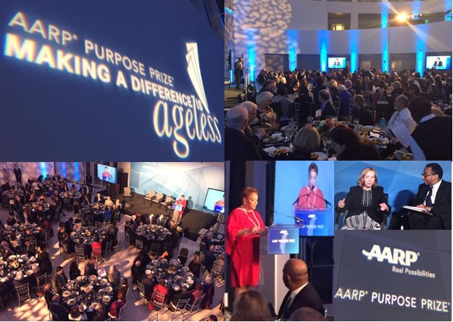 What a great night honoring the 2018 @AARP Purpose Prize Award Winners and Fellows!  Thanks to everyone!  #service #DisruptAging