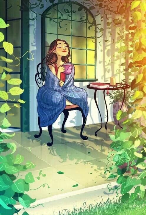 Inhaling little joys of life! #TitleThisChapterOfYourLife   #art- unknown. Help if you know. #mindful #writerslife #spiritual #gratitude<br>http://pic.twitter.com/OmzYn7sjAI