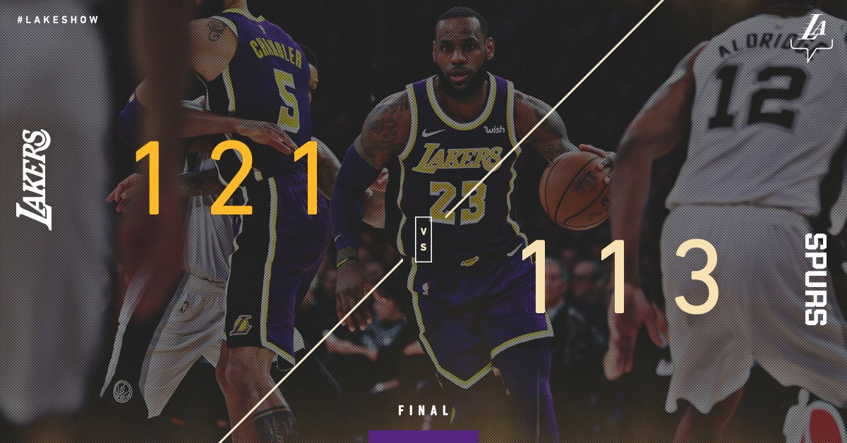 The King refuses to lose ��  @KingJames pours in 42 points, including 20 in the 4th quarter, to lead the #LakersWin. https://t.co/q6GVEb78X9
