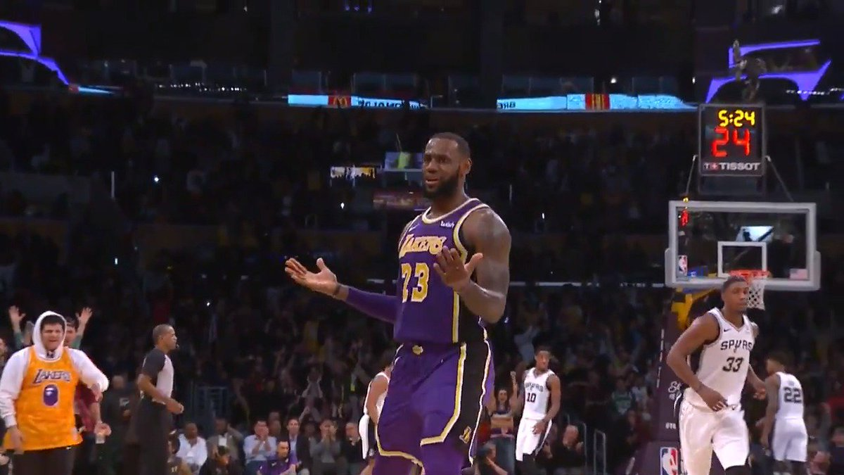 Enjoy ALL of LeBrons BIG night for the @Lakers tonight! He was the leading scorer with 42 points!