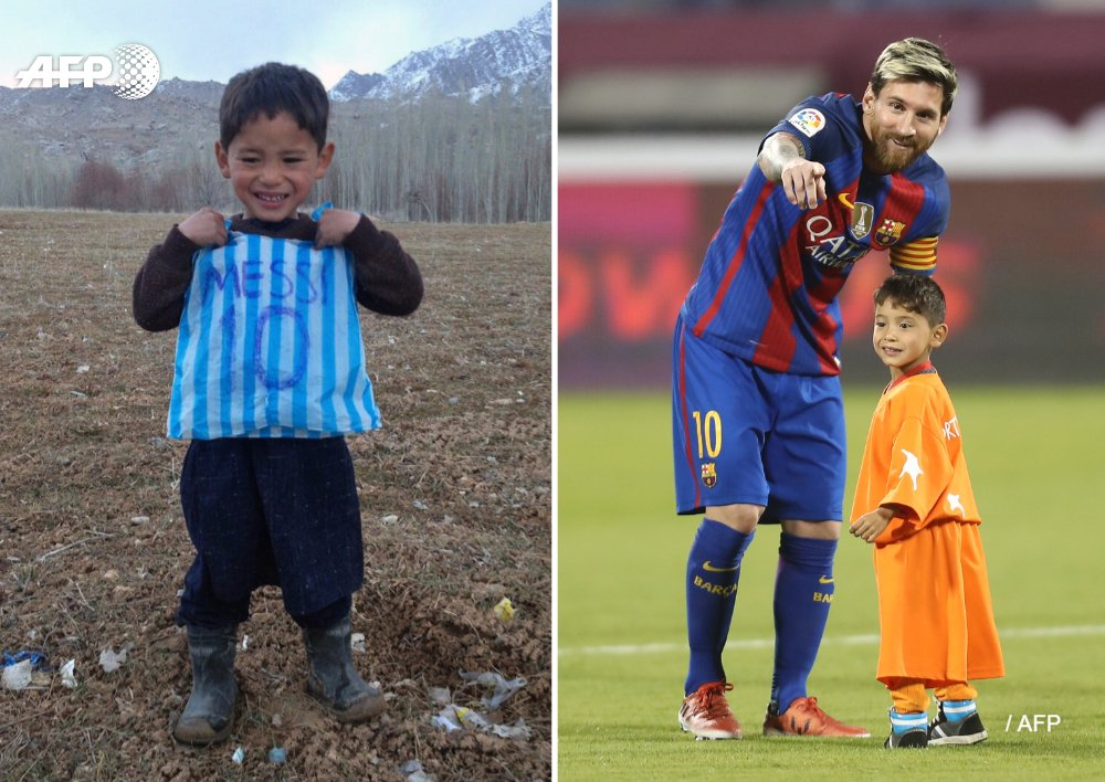 From dream to nightmare: Murtaza Ahmadi moved the world with his love for footballer Lionel Messi in 2016 - now the seven-year-old boy is living a nightmare as one of thousands of Afghans displaced by war https://t.co/DkWScwfmSs