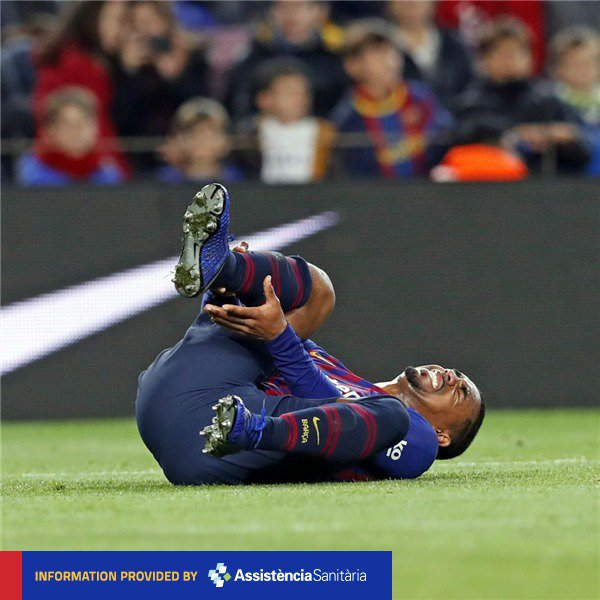 ❗ [MEDICAL ANNOUNCEMENT] Malcom out for 10 to 15 days with a sprained right ankle 🔵🔴 #ForçaBarça