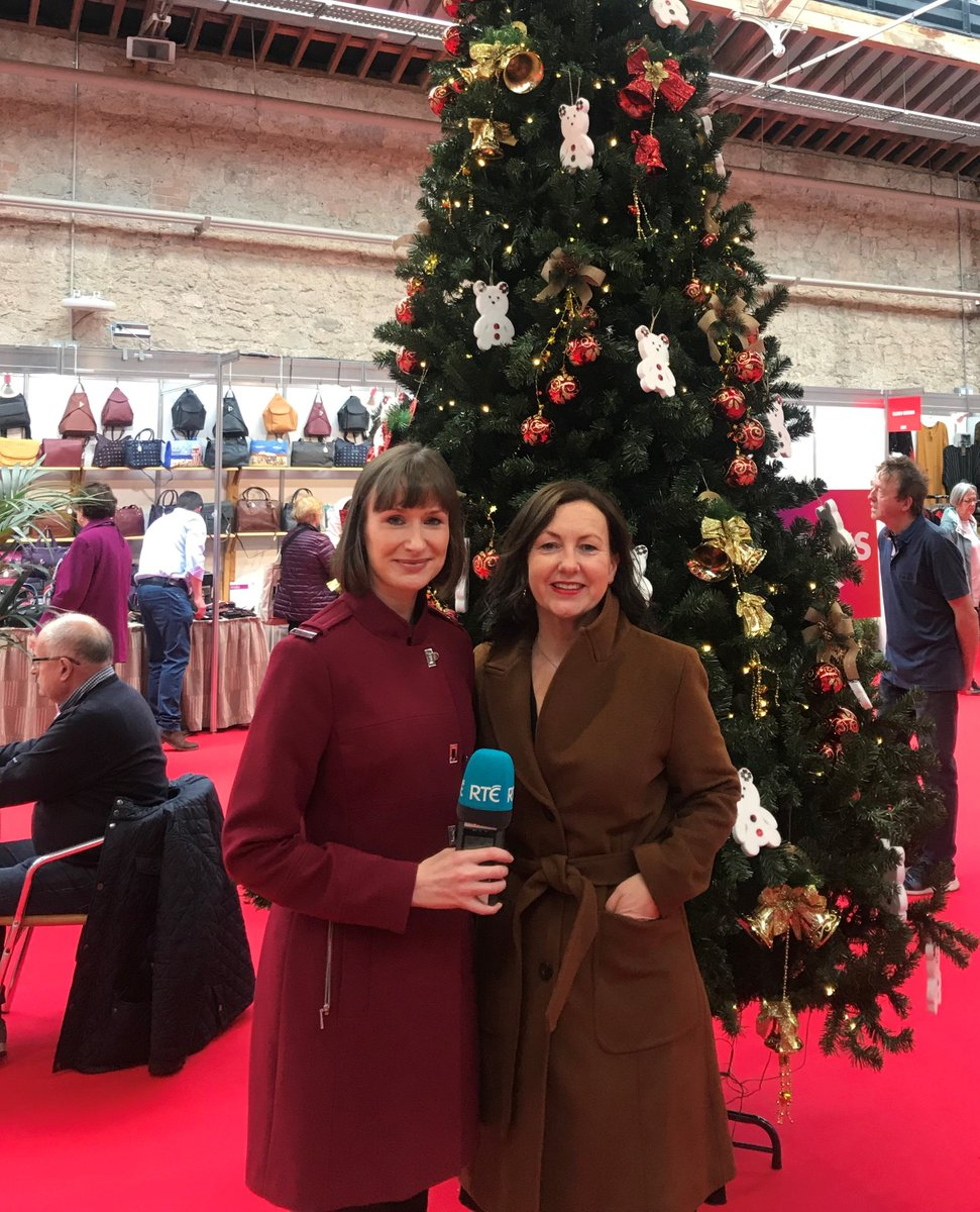 Day 2 at #Gifted2018: @RTERadio1 are at the Guaranteed Irish Village chatting to our members about the #Christmas trade. Tune in to @morningireland tomorrow to hear the full interviews! #BuyGI #AllTogetherBetter