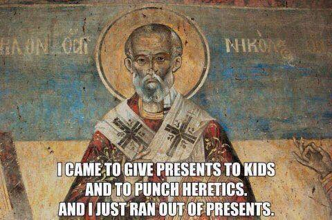 It's the Feast of St. Nicholas. Don't say you haven't been warned. <br>http://pic.twitter.com/S6h4dqQlAf