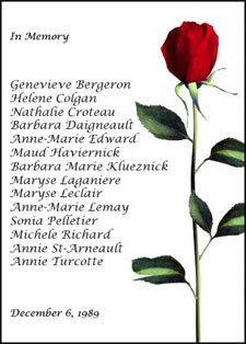 We remember them and the many before and after who have died because of gender-based violence. #December6 Photo
