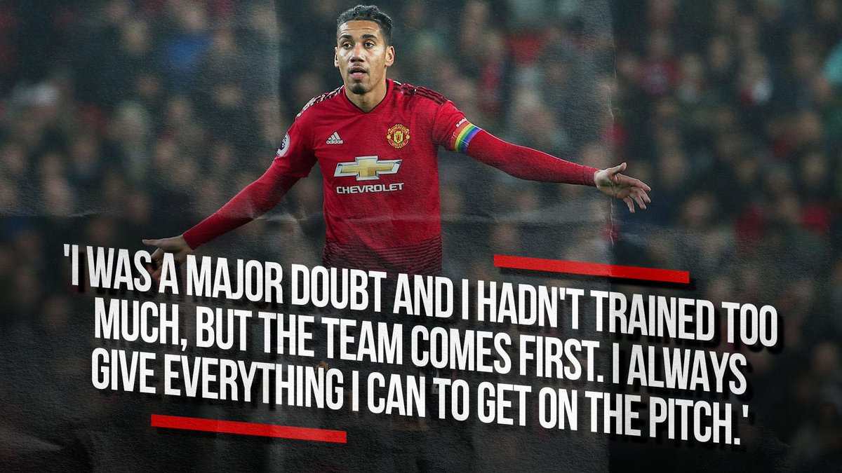 .@ChrisSmalling always gives his all. 👊 #MUFC