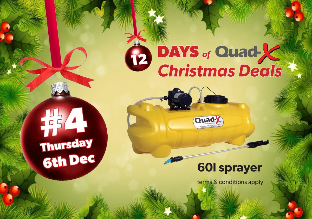 Christmas Tree Sprayer.Quad X On Twitter 12 Days Of Christmas Deals 4 Thurs 6th